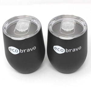 Reusable Coffee Cup (Set of 2) in Black
