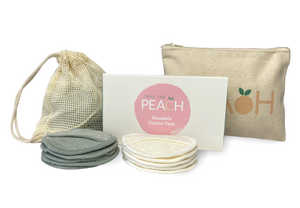 Bundle Kit - 10-Pack Reusable Cotton Pads (with laundry bag) and a cotton canvas case