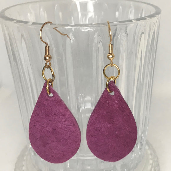Leather suede earrings