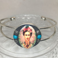 Silver plated Frida bangle