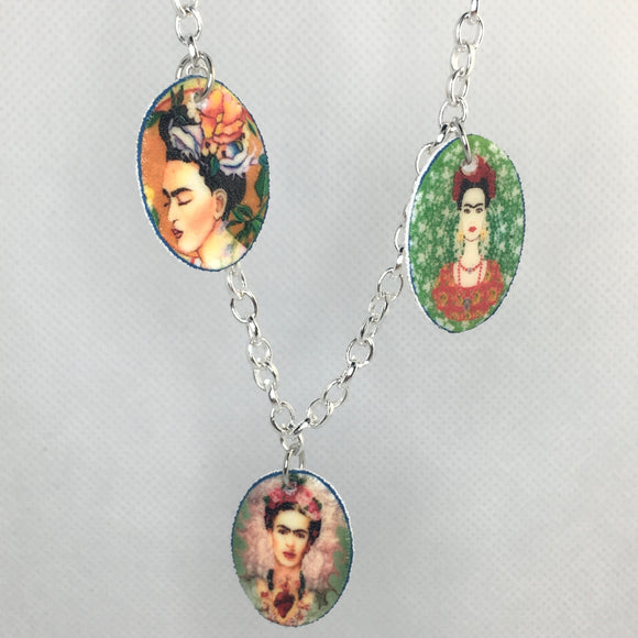 Frida charm necklace