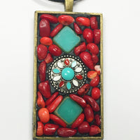Bronze bezel with colorful beads