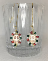 Ivory skull earrings