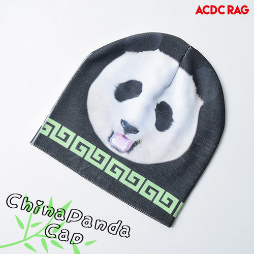 Black Panda knit cap
