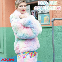 I read an image to a gallery viewer, Eco Fur Jacket I