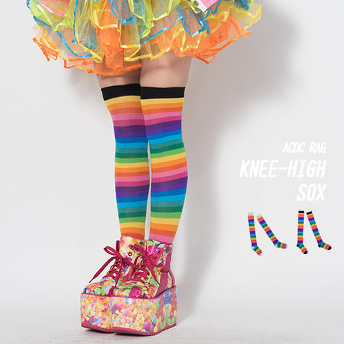 Rainbow knee high