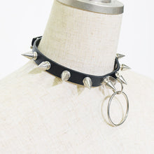 I read an image to a gallery viewer, Ring needle choker(BK)