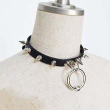 I read an image to a gallery viewer, Ball ring needle Choker