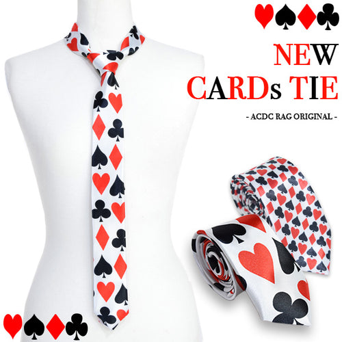 NEW playing card tie
