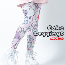 I read an image to a gallery viewer, Cake leggings