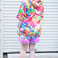 I read an image to a gallery viewer, [Short sleeve] POP ​​candy BIG hoodie