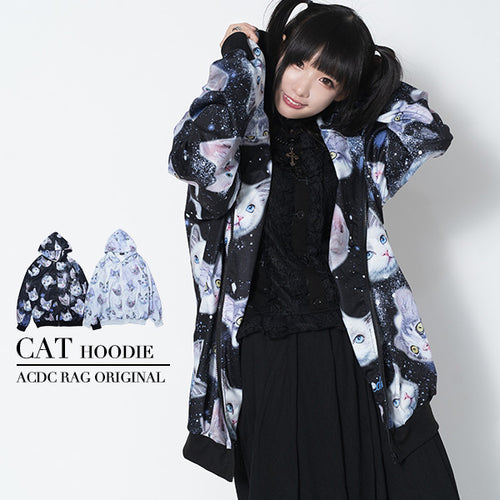 【SALE】CAT ZIP BIGパーカー