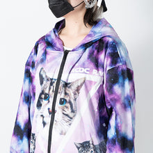 I read an image to a gallery viewer, Anji ZIP BIG hoodie