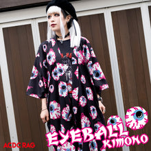I read an image to a gallery viewer, Eyeball Kimono