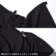 I read an image to a gallery viewer, Kimono ZIP parka