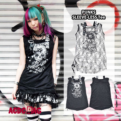 Gauze sleeveless T