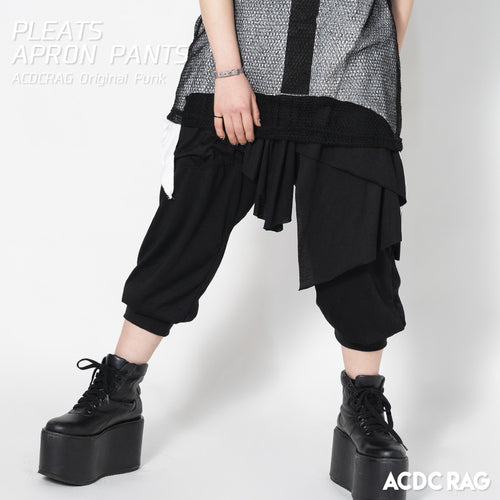 Pleated apron pants
