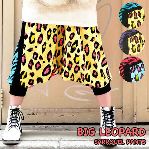 BIG Leopard 7-length Saruel pants