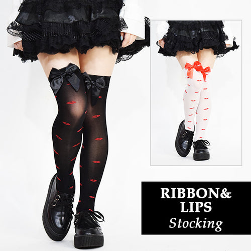 Ribbon Lip Stockings