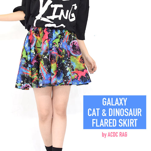 Space C.D Flare Skirt