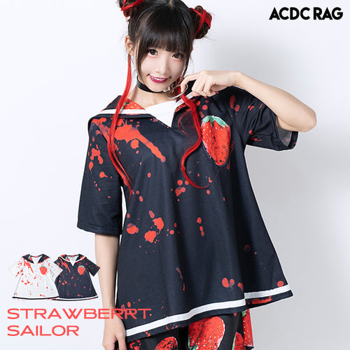 [Short sleeves] Strawberry Sailor