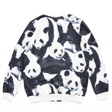 I read an image to a gallery viewer, Panda blouson