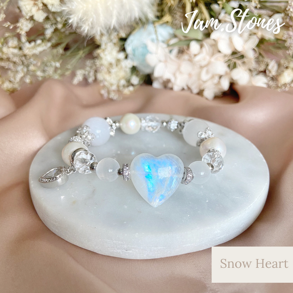 Snow Heart ( Happiness, Positivity & Luck)