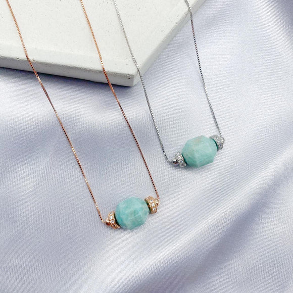 Amazonite Geometric Necklace
