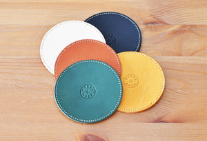 #靴縁 KUTSU-EN LEATHER COASTER 4 SET