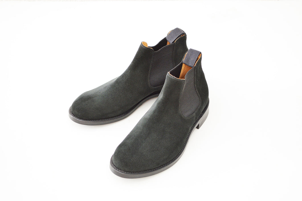 #15074S ELASTIC SIDE BOOTS BLACK