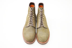 #15068SR CAP TOE LACE UP BOOTS MOSS-GREEN