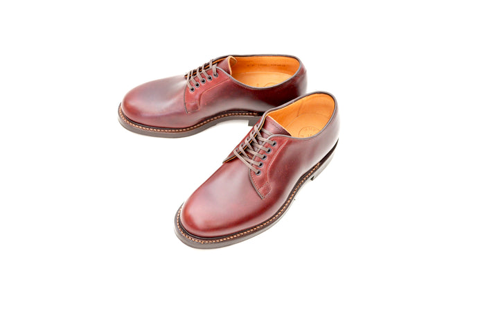 #15066 PLAIN TOE BLUCHER BURGUNDY
