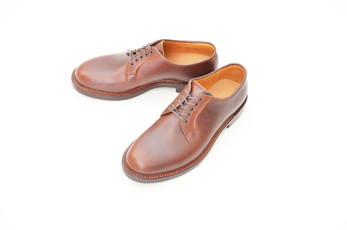 #15066 PLAIN TOE BLUCHER BROWN