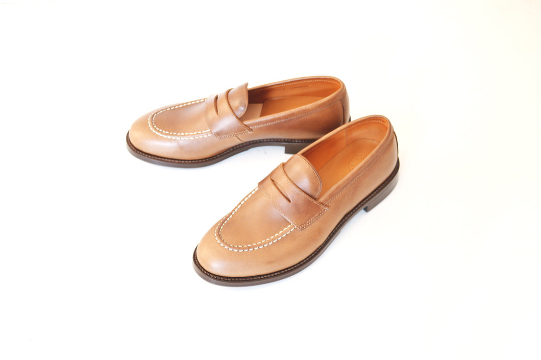 #15079 HEAVY STITCHING LOAFER NATURAL