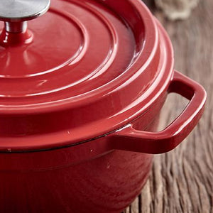 Bright Cast Iron Cooking Pot