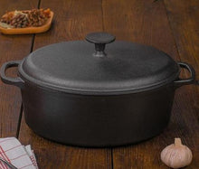 Load image into Gallery viewer, Cast Iron Stewing Pot & Lid