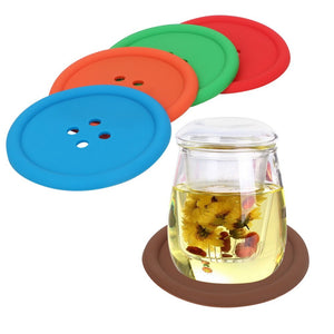 Button Coaster Set (5Pcs)