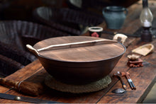Load image into Gallery viewer, Cast Iron Wok & Bamboo Lid
