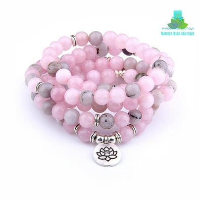 108 Beads Pink Natural Stone Beads - Wander Wild Boutique