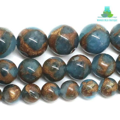 "15"" Strand Natural Smooth Sapphire Beads - Wander Wild Boutique"