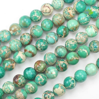 Green Sea Sediment & Emperor Jasper Beads - Wander Wild Boutique