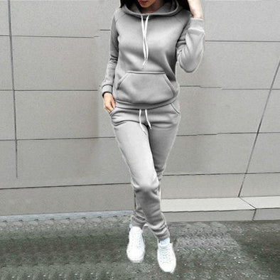Hoodie Sweatshirt and Sweatpants Outift - Wander Wild Boutique