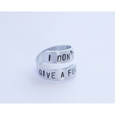 I Don't Give a Fuck Twist Ring - Wander Wild Boutique