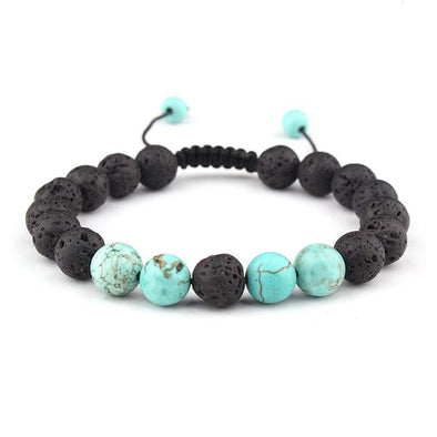 Lava Rock Anxiety Bracelet; Aromatherapy Essential Oil Diffuser - Wander Wild Boutique