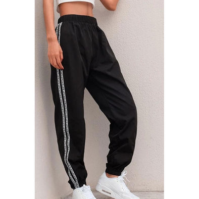 Love Side Stripe Jogger Pants - Wander Wild Boutique