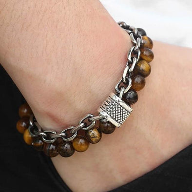 Natural Tiger Eye Stone Bracelet
