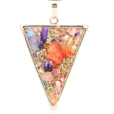 Pizza Pendant Quartz Druzy Beads
