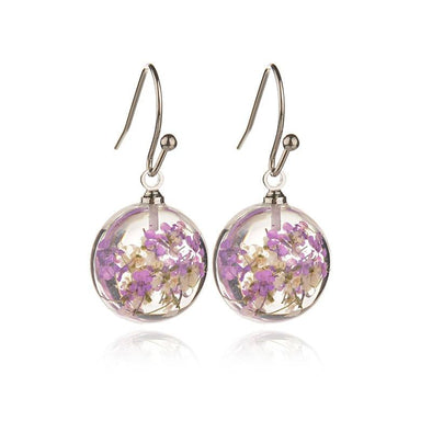 Real Dried Flower Earrings - Wander Wild Boutique