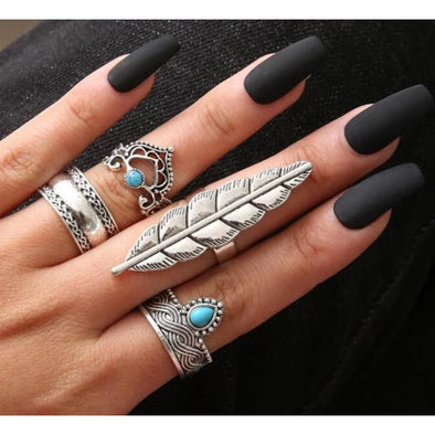 Vintage Silver Knuckle Rings - Wander Wild Boutique