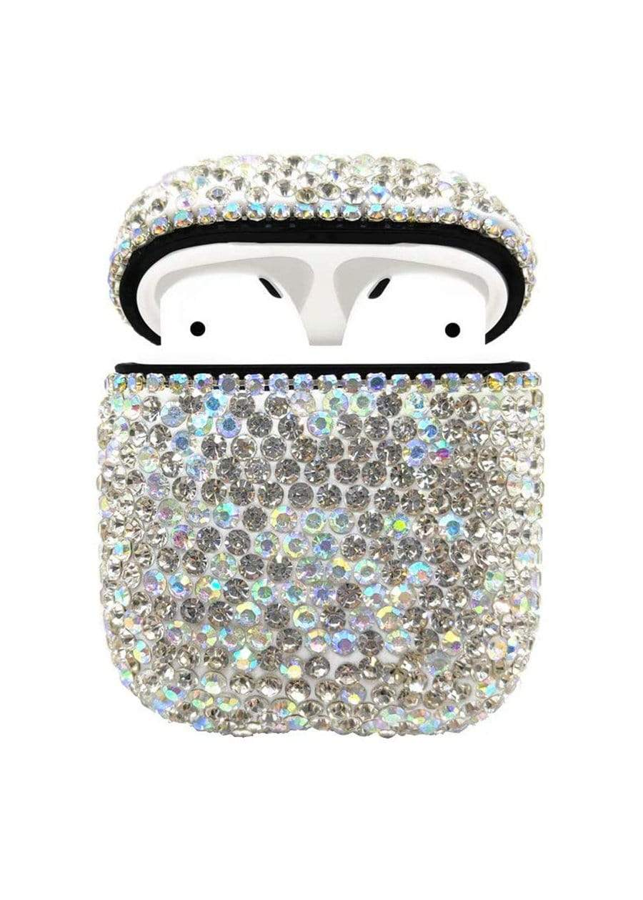 White Crystal Airpod Case-TeenzShop